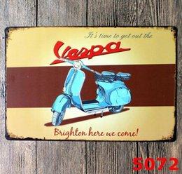173911ee29a Motorcycle Tin Signs Australia - Vintage Metal Tin Signs For Wall Decor  Motorcycle Route 66 Iron