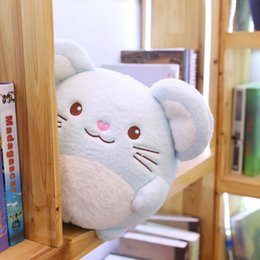 pink cotton rope NZ - 18 30cm Fat Mouse Plush Toys for Children Kids Gifts Kawaii Cotton Stuffed Animal Doll Pink Blue Chinchilla Plush Toys Dolls