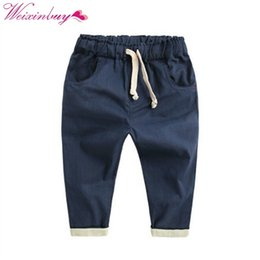 boys fashion red trousers Canada - Boy Harem Long Pants Fashion Toddlers Casual Loose Trousers Summer Bottoms