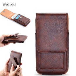 $enCountryForm.capitalKeyWord Australia - EVOLOU Vertical Waist Bag Belt Clip Leather Case for iphone 7 6s Plus Universal Phone Bag for Xiaomi Huawei LG Holster Card Slot