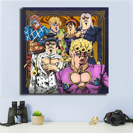 $enCountryForm.capitalKeyWord NZ - JoJo's Bizarre Adventure Golden Wind Canvas Painting Oil Print Poster Art Picture for Bedroom Home Decoration Nordic