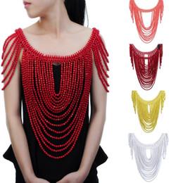 $enCountryForm.capitalKeyWord Australia - Fashion Jewelry Vintage Statement Body Shoulder Bib Full Resin Beads Necklace Female Collar Shoulder Chain Long Women Collares MX190730