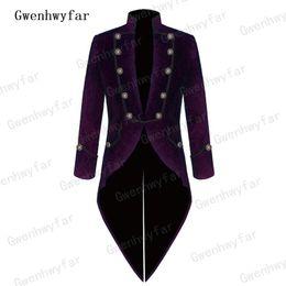 $enCountryForm.capitalKeyWord NZ - Gwenhwyfar 2018 Italian Fashion Purple Velvet Men Suit Blazer Tailcoat Groom Tuxedo Mens Wedding Prom Suits Jacket Pants 2 Piece #537941