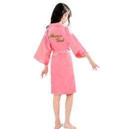 $enCountryForm.capitalKeyWord NZ - BZEL Children's Bathrobe Flower Girls Robe For Bride Wedding Party Baby Kids Satin Kimono Bath Robes Nightgowns Drop Shopping