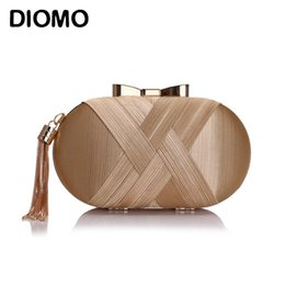 clutch bag party green Australia - DIOMO 2020 New Arrival Evening Bags Clutches Fashion Ladies Tassel Weave Purse Wedding Party Women Bags Gold Black Green
