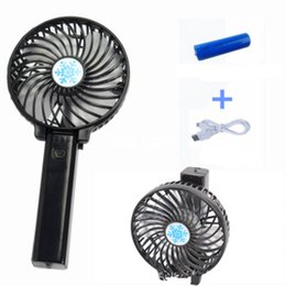 Plastic Electric Fan Australia - Mini Folding Handy USB Fan Convenient Handle Mini Charging Electric Fans Snowflake Handheld Portable Comfortable For Home Office Gifts
