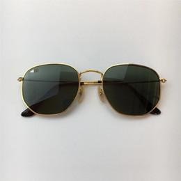 02dc8f0b014 Brand Sunglasses 3548 Hexagonal Metal Sun Glasses irregular Hexagonal  personality Fashion flat Sunglasses pink mercury silver green