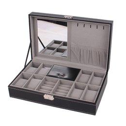 $enCountryForm.capitalKeyWord Australia - 2 In 1 8 Watch Box Grids+3 Mixed Grids PU Leather Jewelry Case Storage Organizer Luxury Jewelry Box Ring Display Black
