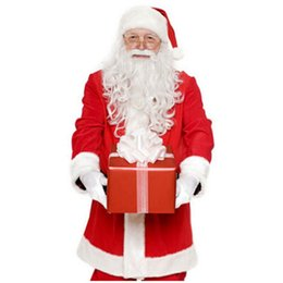 fast cosplay shipping Australia - New Christmas Santa Claus White Beard Santa Dress Up Supplies Cosplay Beard Three Large Wholesale Free Shipping Fast Delivery