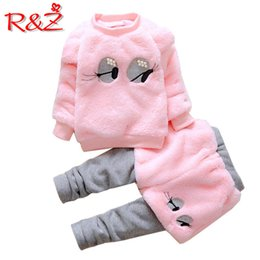 $enCountryForm.capitalKeyWord Australia - R&Z 2018 winter new girls thick cotton clothes cute girl pearl two-piece fake two-piece suit
