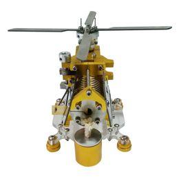 Build Toy Helicopter Australia - Transport Helicopter Horizontal Single Cylinder Vacuum Stirling Engine Model Kits Toys Model Building Kits Toys For Children