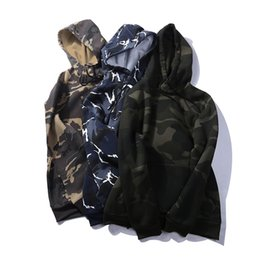 Plain Clothes Australia - Fashion Streetwear Camouflage Plain Hoodies For Men Clothes Spring Long Sleeves Oversize Camo Hooded Casual Sweatshirt Male