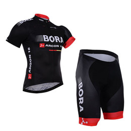 Discount bora jersey 2016 BORA ARGON 18 PRO TEAM BLACK SHORT SLEEVE CYCLING JERSEY SUMMER CYCLING WEAR ROPA CICLISMO+ SHORTS 3D GEL PAD SET S