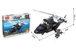 Police Block Australia - Children's city police fight to insert building blocks toys military special police assembled 6-12 years old male plastic educational toys