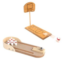 $enCountryForm.capitalKeyWord UK - Wooden Desktop Bowling Basketball Game Parent-Child Interactive Family Fun Table Entertainment Game Toys For Children Kids Gift