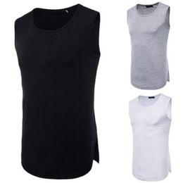 $enCountryForm.capitalKeyWord Australia - 2018 Mens Muscle Bodybuilding Sleeveless Tank Top Tee Shirt Solid Vest US O Neck Tanks Stretch Summer Quickly Dry