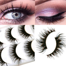 Eyelashes Extensions Set Australia - False Eyelashes Maquiagem Pairs set Up Long Cross 5 Mink Extension Black Make Natural Eyelashes Makeup Soft Fake