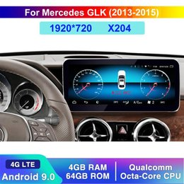 dvd display for car UK - Qualcomm 8 Core Android 9 4G+64G Touch Screen Multimedia Player Display BT Navigation GPS For GLK Class 2013-2015 car dvd