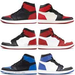 Box Spiders Australia - With Box 2019 New 1 OG Banned Bred Toe Spider-Man UNC 1s top 3 Mens Basketball Shoes Homage To Home Royal Blue Men Sports Designer Sneakers