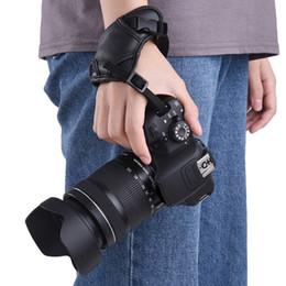 Dslr Camera Grips Australia - Cheap Strap Leather Camera Padded Wrist Grip Strap Camera Accessory for Canon  Nikon  Sony  Olympus Pentax  Fujifilm  DSLR