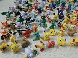 144 Estilos 1 '' Pikachu Pequenos Animais Modelo de Boneca Dos Desenhos Animados Bonecas Material PVC Decoração Do Bolo Brinquedos Para Crianças Venda de afastamento