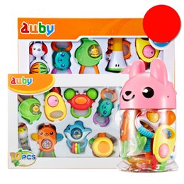 Toys For Years Child NZ - Baby gum hand rattle for 0-1 year old children to hold 3-6-12 month old boys can chew puzzle high quality toys