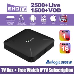 $enCountryForm.capitalKeyWord Canada - TX3 Mini Android 7.1 TV Box With Europe Arabic IPTV subscription 2GB 16GB S905W Quad Core 4K H.265 WiFi IPTV Box