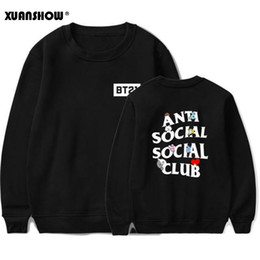 China XUNASHOW 2019 New BT21 Sweatshirt for Men Women Korean Long Sleeve BTS Kpop Album Clothes Cartoon Letters Print Tops S-5XL suppliers
