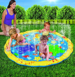 Discount beach spray - Water Spray Play Mat Summer Outdoor pvc Inflatable Baby Pad Water Mat Patted Play Spray Water Mat LJJK1485