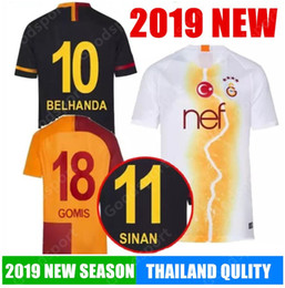 2019 Galatasaray soccer jerseys home GOMIS Champions League 2018 2019  CIGERCI BELHANDA FERNANDO FEGHOULI FOOTBALL SHIRTS THAILAND QUALI 99f2aacb1
