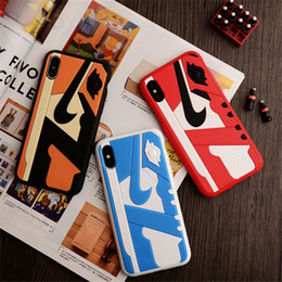 Wholesale Matte Silicone D Basketball Shoes Pattern PC Phone Cover Sports Rubber Frosted Back Case for iPhone s plus X XS MAX XR