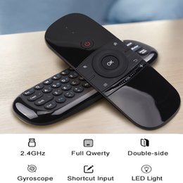 air mouse android ir Canada - Wechip W1 Remote Control 2.4ghz Wireless Fly Air Mouse With Keyboard Full Touchpad Pc For Android Tv Box X96 Ir Learning Pk Mx3 T190628