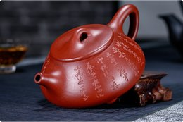 yixing purple teapot Australia - new Chinese yixing zisha teapot handmade da hong pao ni Purple sand Clay Stone scoop teapot 200cc