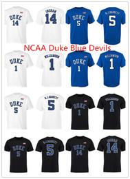 $enCountryForm.capitalKeyWord Australia - NCAA Duke Blue Devils 1 Zion Williamson College Basketball T-shirts 2019 Mens 5 RJ Barrett 14 Ingram Short sleeve Fans Tops Tee Jersey