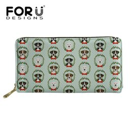 $enCountryForm.capitalKeyWord UK - FORUDESIGNS Women Wallet and Purse Christmas Boxer Dog Prints Wallets Money Handbag Ladies Coin Purses Bank Card Holder Zipper