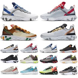games for soccer NZ - Cheaper New React Element 87 Volt 55 Game Royal Taped Seams Running Shoes For Women men 55s Blue Chill Trainer 87s Sail Sneakers