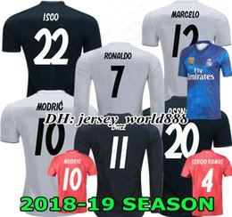 4a154847a ASENSIO 18 19 Real madrid soccer Jersey MODRIC CR7 Long sleeves Home away  3RD BENZEMA BALE KROOS RAMOS ISCO NAVAS football shirt RONALDO