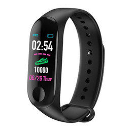 Chinese  Free shipping New M3 0.96 color screen smart watch bracelet heart rate monitoring information push Bluetooth call reminder sports watch manufacturers