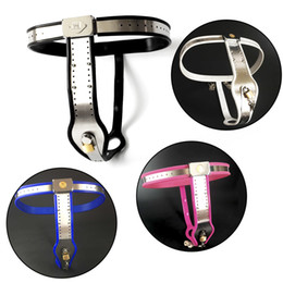 Vagina belts online shopping - New Fully adjustable stainless steel female chastity belt with silicone liner and vagina cover bondage set restrain sex toys