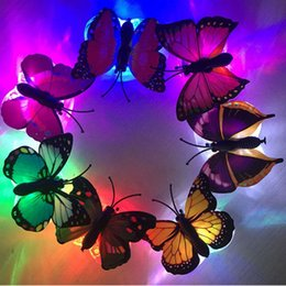 $enCountryForm.capitalKeyWord Australia - Girls Women LED Flashing Butterfly Hairpins Glowing Hair Clips Headdress Birthday Party Home Christmas Wedding Decoration QW9868