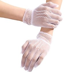$enCountryForm.capitalKeyWord Australia - Hollow Wedding Gloves Ladies Fishnet Gloves Summer Sunscreen Driving Wrist Length Short Bridal Gloves 2019 New