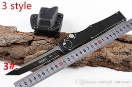 """Micro Gears Australia - Micro Halo VI Tanto Knife (4.6"""" Satin) 150-4 single action auto Tactical knife Survival gear knives with kydex sheath New in box"""