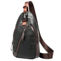 d7e709bcf7da Men s Male Chest Single Shoulder Bag Korean Fashion Casual Messenger Pu  Leather Crossbody Hand Bags For Men Travel Bag Handbags