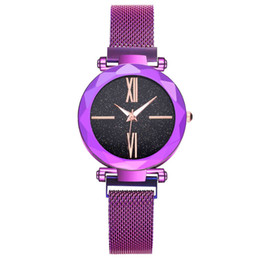 Women's welfare 2019 ladies 6 color Starry Sky diamond fashion roma dial watch lazy quartz watch magnet strap magnet watch z313 from luxury sport watches for men manufacturers