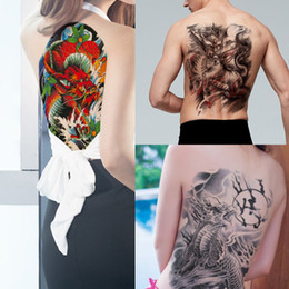 large men tattoo stickers UK - Big Large Kylin Temporary Tattoo Sticker Full Back Body Art Chest for Cool Man Woman Summer Waterproof Tattoo Beach Party Transfer Paper New
