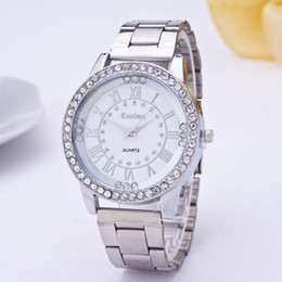 $enCountryForm.capitalKeyWord NZ - Luxury Womens Watch Crystal Diamond Rhinestone Stainless Steel Folding Clasp Safety Analog Clock Quartz Wrist Watch relojes