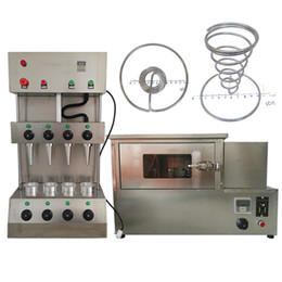 food process machine UK - 4 piece model pizza food processing snack pizza cone roaster with pizza oven machine with support and heating tube