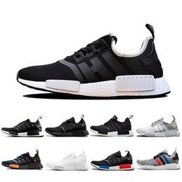 017c131c31d5 2019 mastermind japan NMD R1 OREO Runner Japanese Primeknit PK OG Triple  black White Running shoes Men Women beige Runner Sports Sneakers