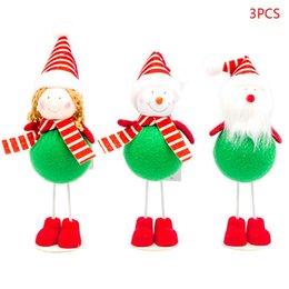 $enCountryForm.capitalKeyWord NZ - 2019 3pcs set Christmas Standing Girl Doll Xmas Ornament Pendant Party Decoration Home Festival Party Kids Gifts