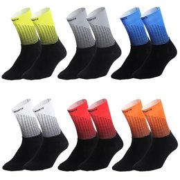 Wholesale Bicycle Sports Socks Wear resistant Sweat absorbent Non slip Towel Bottom Men And Women Socks In The Tube Sports Tide